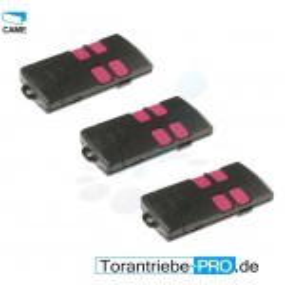 3 télécommandes CAME TAM T434